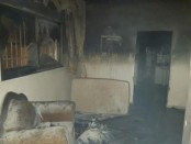 A photo from the scene at the 'price tag' arson. Credit: Rabbis for Human Rights