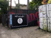 An example of ISIS graffiti in France. Credit: Thierry Ehrmann