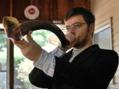 A man blowing the shofar horn. Credit:  slgckgc/Flickr