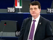 Ukip MEP Gerard Batten speaking during the debate on Systematic mass murder of religious minorities by ISIS. Credit: Ukip MEPs/YouTube