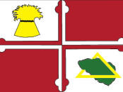 The flag of Howard County, Maryland.
