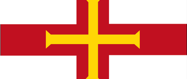 The flag of Guernsey
