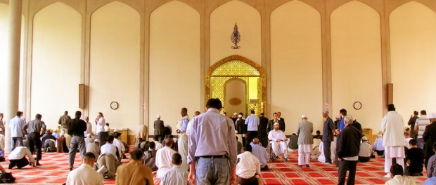Inside London Central Mosque. Credit: Wikimedia.