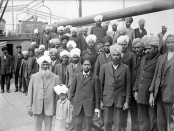 Sikhs aboard the Komagata Maru. Credit:  Vancouver Public Library/Wikimedia