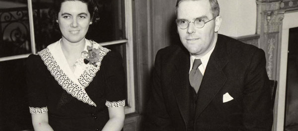Martha Sharp with her husband Waitstill, 1939. Credit: Yad Vashem.