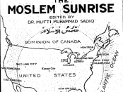 A 1923 front cover of the Muslim Sunrise. Credit: Muslimsunrise.com