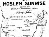 A 1923 front cover of the Muslim Sunrise. Credit: Muslimsunrise.com