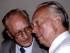 FILE PHOTO: Former East German Defence Minister Heinz Kessler (L) chats with former East German deputy Defence Minister Fritz Streletz in Berlin