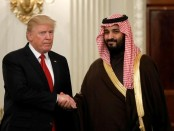 Trump meets Saudi crown prince at the White House in Washington