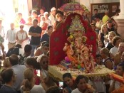 Ganesh Chathurthi celebrations in the the Church of Our Lady of Africa. Credit: FaroTV Ceuta.